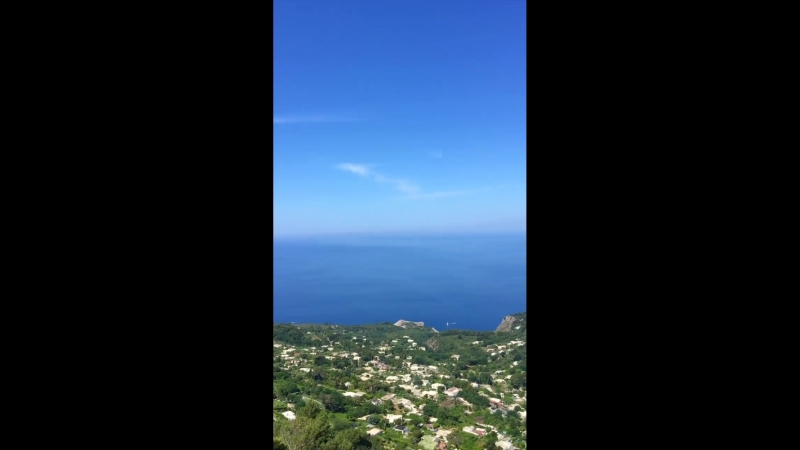 Capri - The chairlift from Anacapri to Monte Solaro