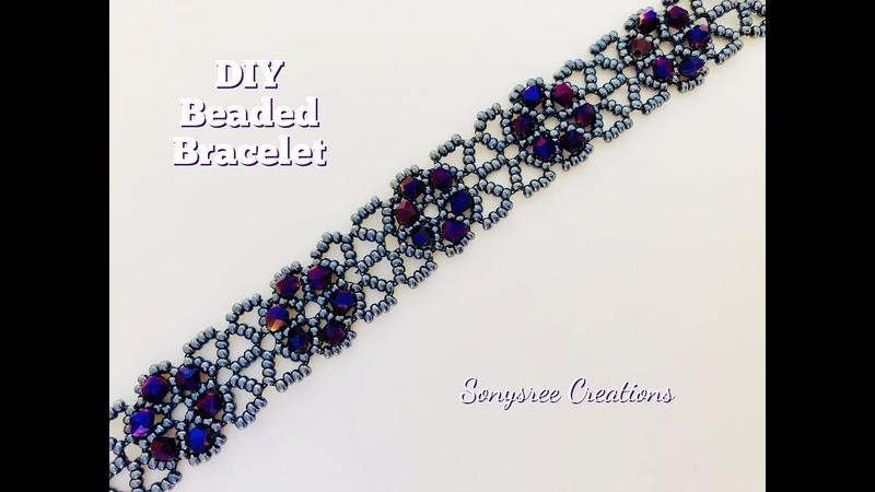 DIY Lacy Beaded Bracelet. How to make beaded bracelet. Easy Tutorial