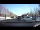 19.03.2018. Крупное ДТП на выезде из Северодвинска с участием нескольких автомобилей