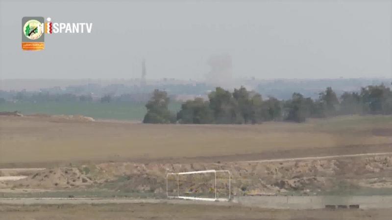 Vídeo muestra momento en que cohete de HAMAS alcanza base israelí