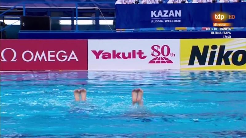 N. Ischenko_S. Romashina (RUS) Technical Duet Preliminary Kazan World Championsh 2015