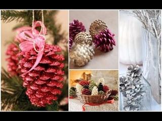 елочные игрушки из шишек/новогодний декор из шишек/Christmas decorations