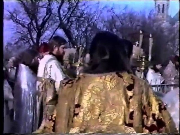 Лития на могиле иноков Павла и Алимпия в Белой Кринице(Старообрядцы - Lipoveni - Old believers)