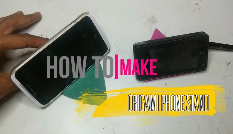 Origami Phone Stand [DIY] by Brain Washer