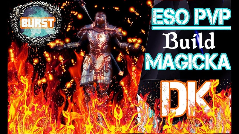 Eso PvP Wolfhunter Patch Magicka Dk BUILD! ULTRA BURST | Infinite Sustain | great Defense