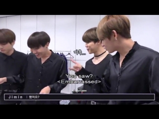 hoseok sees everything. he called vmin gross which had them like HUH bc he saw them lick t