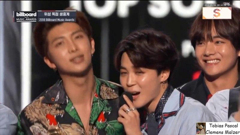 BTS wins Top Social Artist Award @BBMAs 2018