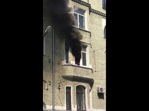 Выборг, пожар в квартире на Ленинградском шоссе.