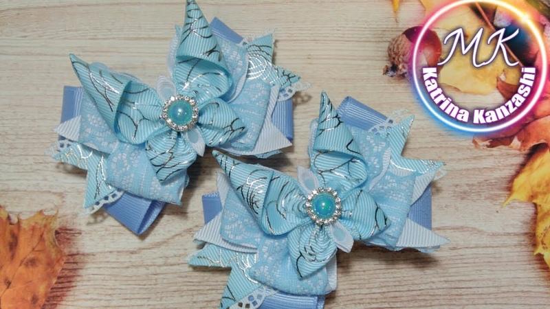 Бантики с бабочками из репсовой ленты, очень практичные/Arcos com borboletas feitas de fita de rep.