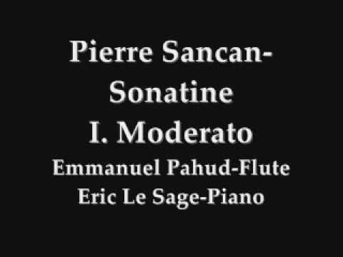 Pierre Sancan-Sonatine 1st mvt, Pahud-Flute
