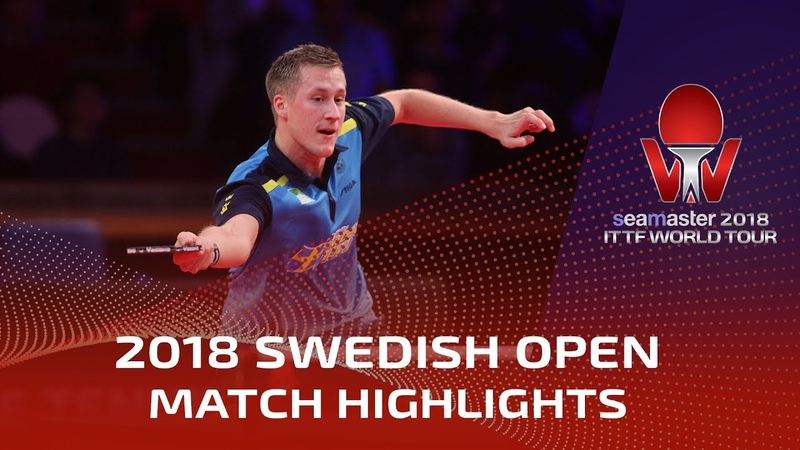 Kristian Karlsson vs Mattias Falck 2018 ITTF Swedish Open Highlights 1 4