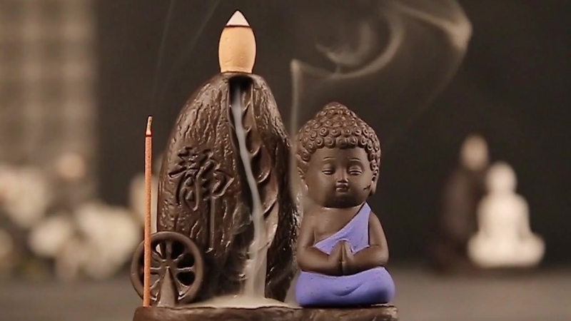 Маленький Будда подставка для благовоний