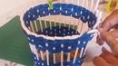 Корзиночка,сплетенная ситцевым плетением волшебными трубочками