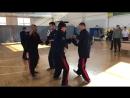 Упражнение из техники Русского Кулачного Боя Живот 1х1 с плотностью боя 2 удара в сек.