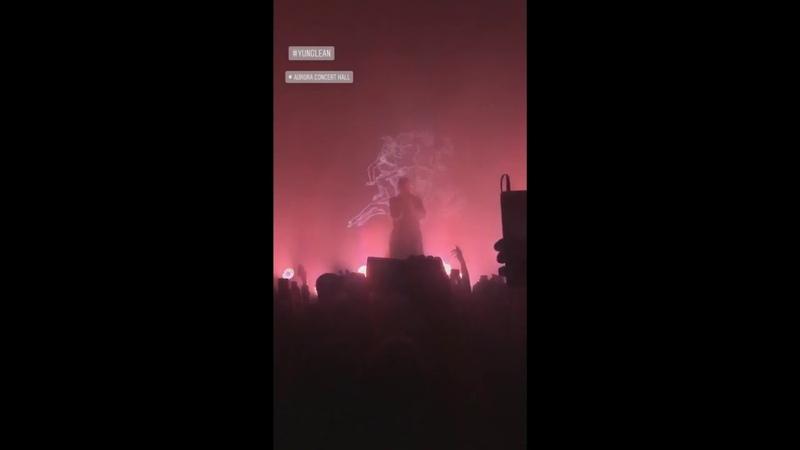 Yung lean at aurora hall russia