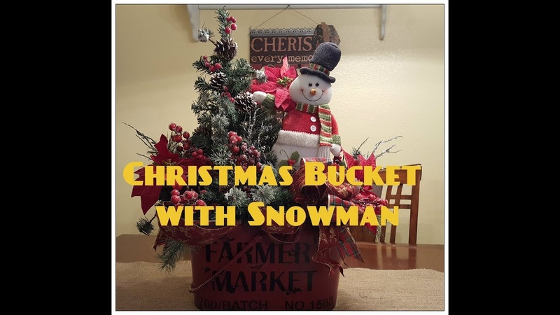 Tricia's Creations: Christmas Bucket with Snowman