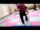 Тренировка по Ушу 11.09.18. Отработка бросков. Саша кидает Валеру переворотом