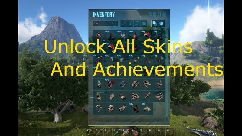 ARK: Survival Evolved Unlock All Achievements And Skins!!