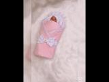 Комплект на выписку Гламур розовый
