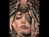 q_tattoos.Тату на спине.