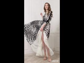 `Жаркое сафари` длинное платье в пол из декоративного шифона. 6 530 руб.