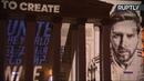 Световое шоу на фасаде Большого театра в честь ЧМ-2018