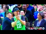Drew Bledsoe, in a Terry Rozier jersey, after a big Terry Rozier bucket. This is real life in 2018. Celtics