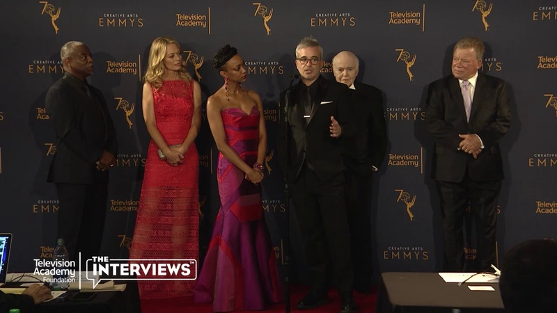 Sonequa Martin-Green Alex Kurtzman (Star Trek: Discovery) 2018 Creative Arts Emmys Press Room