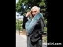 Элитное меховой пальто из бобра с красивым воротником из чернобурки тм sobolini