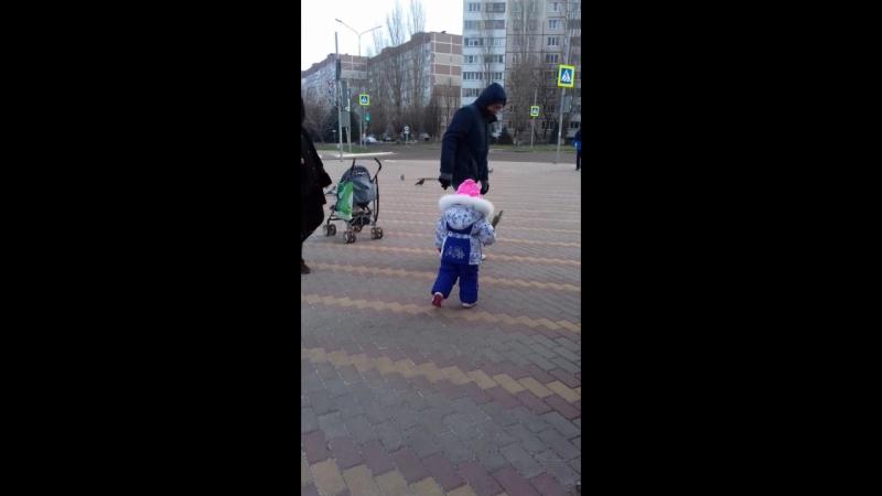 ✌💗прогулка с дедушкой 💖👍