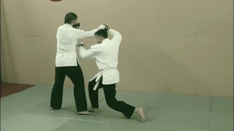 Sinten Ryu Aikijujutsu. Нарезка одной тренировки (не постановка) Шаги, захваты aikisinten.spb.ru