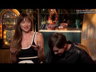 Интервью Дакоты  и Кэйли Спэни в рамках промоушена  Ничего хорошего в отеле Эль-Рояль русские субтитры