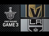 NHL 18 PS4. 2018 STANLEY CUP PLAYOFFS FIRST ROUND GAME 3 WEST GOLDEN KNIGHTS VS KINGS. 04.15.2018. (NBCSN) !
