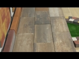 Тротуарная плитка Палаццо колор-микс монблан Ландшафт