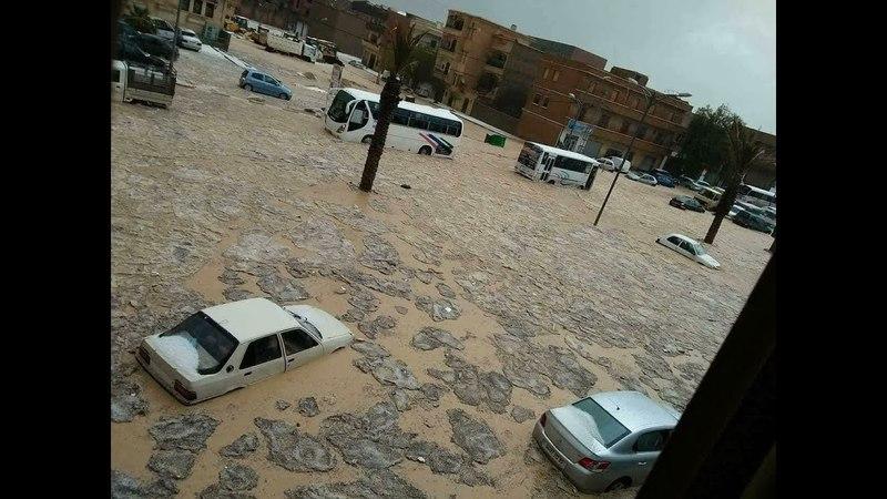 Торнадо, град , паводки в районе города Батна, Алжир | Severe weather outbreak near Batna, Algeria