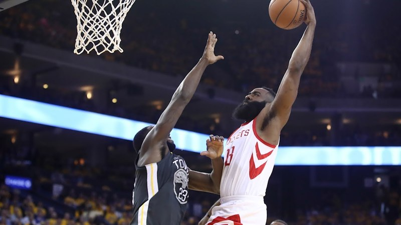 James Harden Dunks on Draymond Green - Game 4   Rockets vs Warriors   2018 NBA West Finals