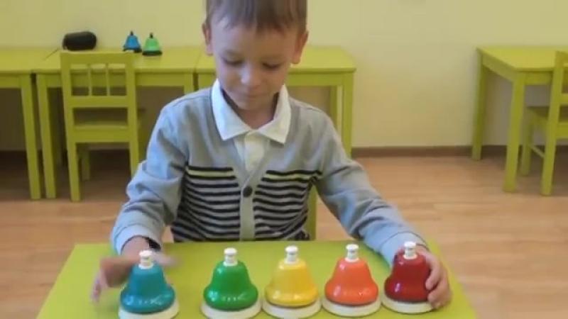 Цветные колокольчики-нотки. Маленький Моцарт.