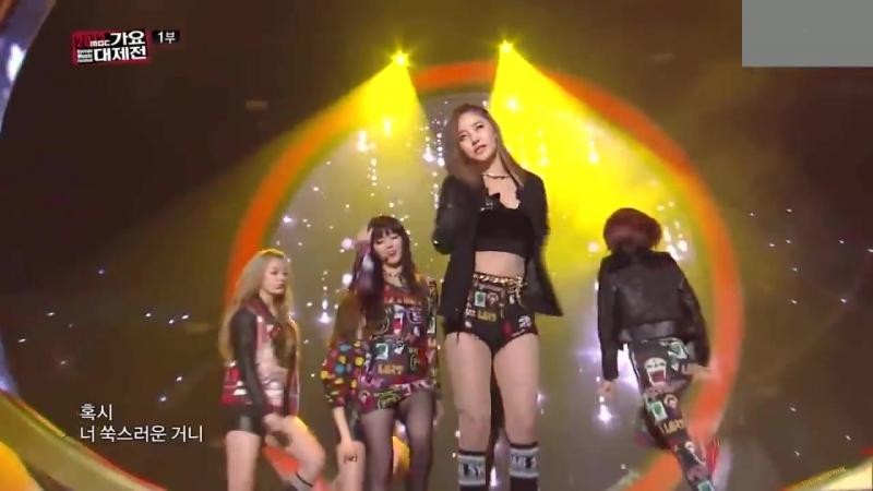 131231 Dal Shabet - Be Ambitious (remix) live at MBC Gayo Daejejeon 2013
