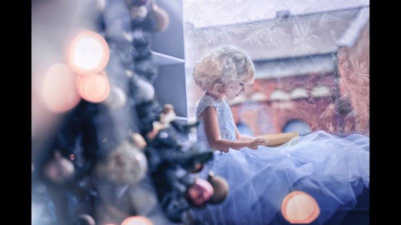 Сказочная ретушь фото До/После. Рождественский ангелок.