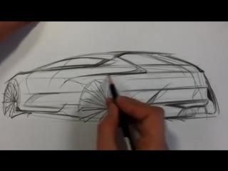 Car sketch (rear quarter view)