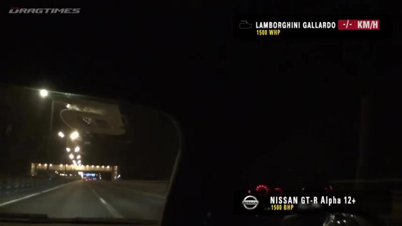 Lamborghini Gallardo UR TT vs Nissan GTR AMS Alpha 12 (360 km_h) (224 MPH)