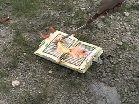 Burning Pissing on a Koran