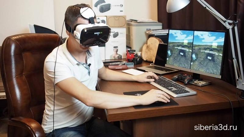 [Siberia3D] Подключение очков виртуальной реальности к компьютеру через Riftcat. Адский стрим танков