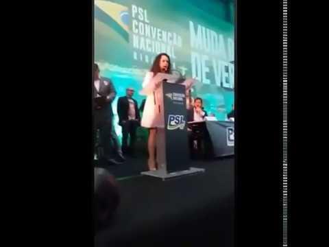 Discurso Janaína Paschoal Vice Bolsonaro PSL Convenção 22/07/2018