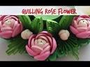 Quilling Rose Flower Tutorial 17