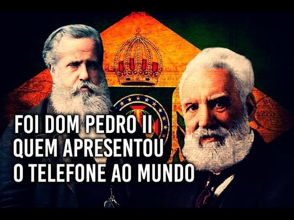 Dom Pedro II quem apresentou o telefone ao mundo Felipe Dideus