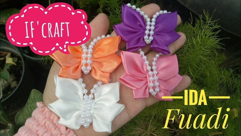 156) DIY || Cara Membuat Bros Kupu-kupu || How to Make Butterflies from Satin Ribbon || Kanzashi