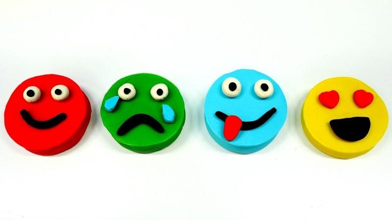 Emojis de play doh plastilina Vídeos educativos para niños