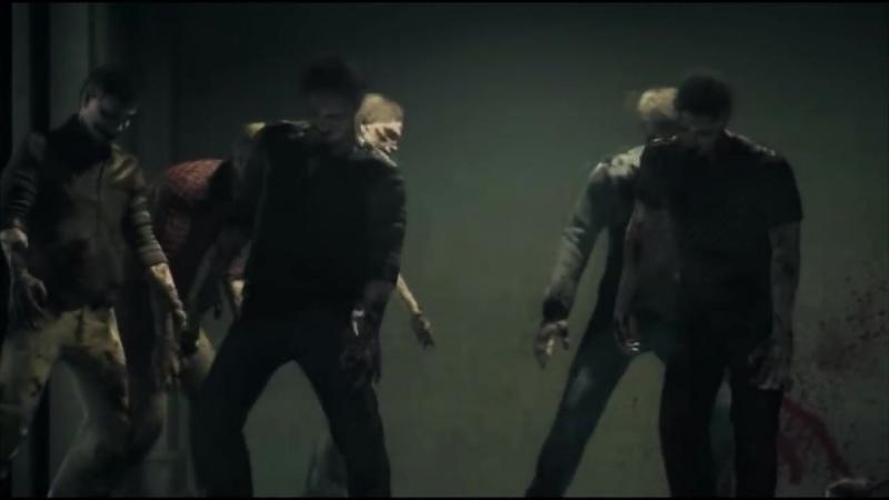 Leon Chris vs. Group of zombies