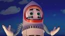 Домики - Космический корабль - прикольные мультики про домики машинки